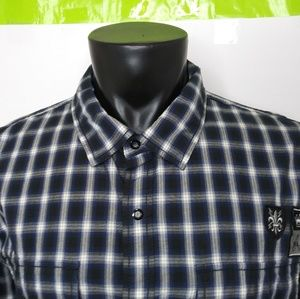 CK Jeans Snap Button Front Long Sleeve Shirt